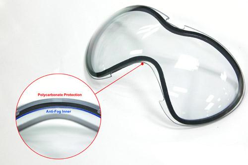 警星 G C5 特警 護目鏡 備用鏡片(黃色),生存遊戲風鏡用 耐衝擊 (美國反恐特警小組專用款)