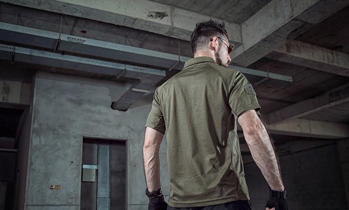 限時下殺,優惠一件199元~M號 軍綠 戰術速乾T恤,PLOL領,短袖上衣(海豹最愛),排汗,涼爽,耐磨,防紫外線