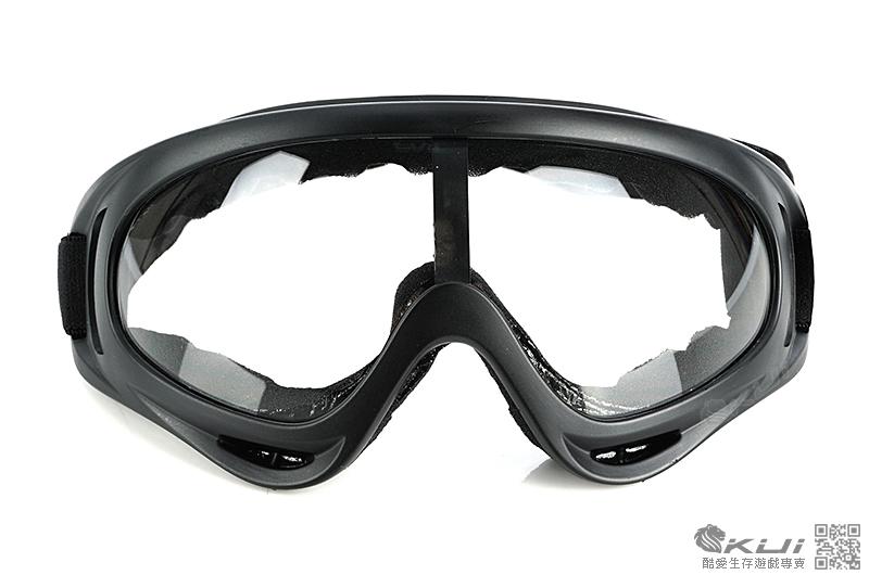 類 FALAN 護目鏡,造型風鏡 - 生存遊戲 (黑邊透明)