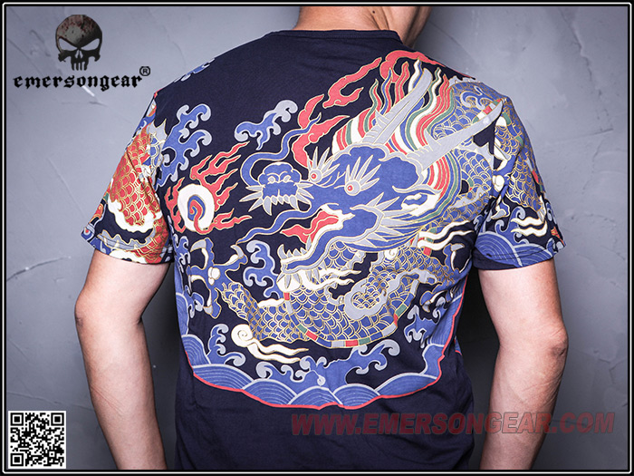 L號~EMERSON 愛默生 東方龍經典 中國龍T恤