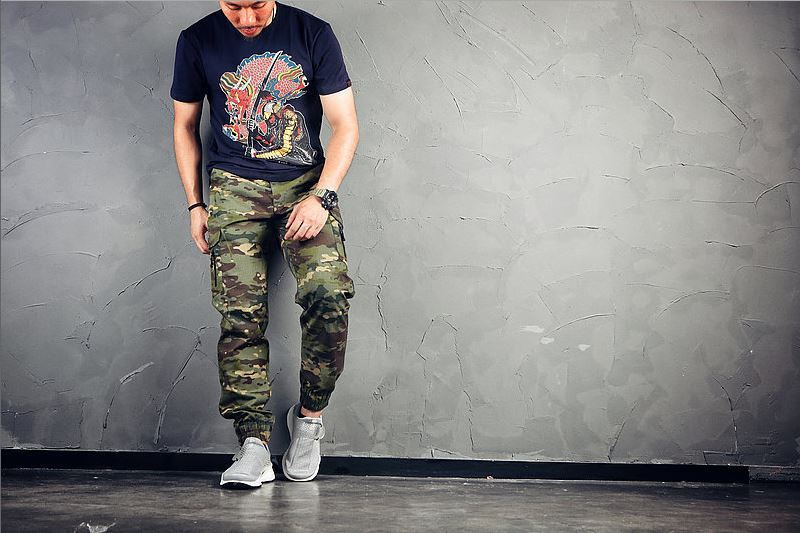 30腰 綠多地~EmersonGearS 愛默生 束腳工作褲/黑色拉鍊