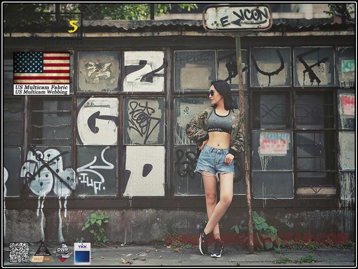 多地迷彩 M號~EmersonGearS 愛默生 MA1風格休閒夾克-女版