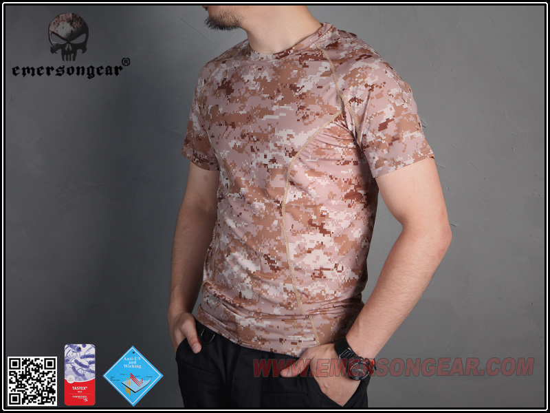 AOR1 S號~EmersonGear 愛默生 數位沙漠迷彩 速乾T恤 透氣排汗短袖T恤