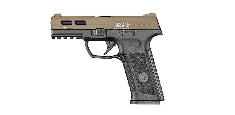ICS一芝軒XAE 瓦斯 後座力 雙邊操作 手槍 沙黑雙色 (BLE-006-SD4)
