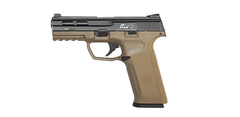 ICS一芝軒XAE 瓦斯 後座力 雙邊操作 手槍 黑沙雙色 (BLE-006SD3)