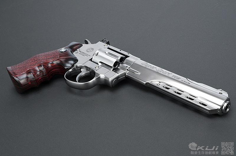 銀色 6吋~WG CO2 全金屬 左輪手槍(702型)