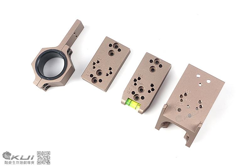 沙色~SPY-003 多功能 戰術鏡座 水平座 增高座 貓頭鷹 適用RMR/RPO/DOC/T1/T2
