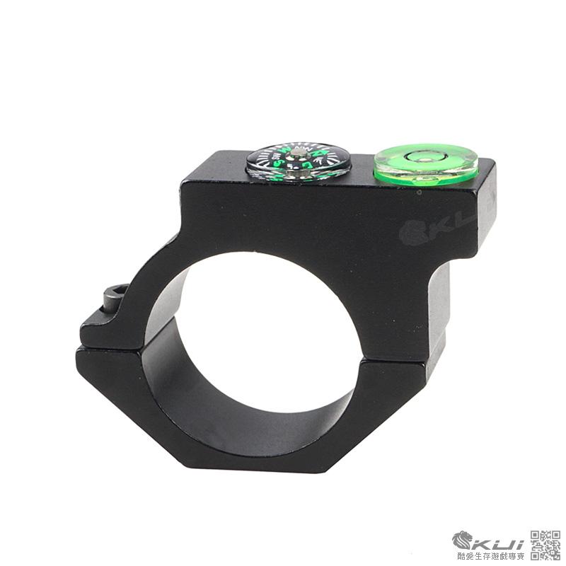 25mm 外接 羅盤水平儀 外接支架 夾具 指北針 羅盤 鏡環 鏡架 鏡座  狙擊鏡
