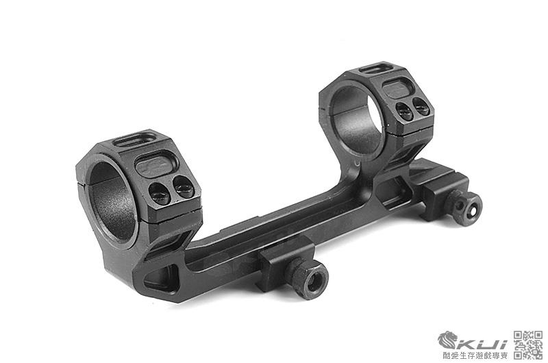類G&E Optic 附水平儀25/30mm  斜臂一體式連體夾具 鏡環 鏡架 鏡座 寬軌 戰術軌道