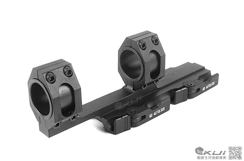 摟空快拆一體式25mm/30mm斜臂 鏡座 連體夾具 寬軌 狙擊鏡用