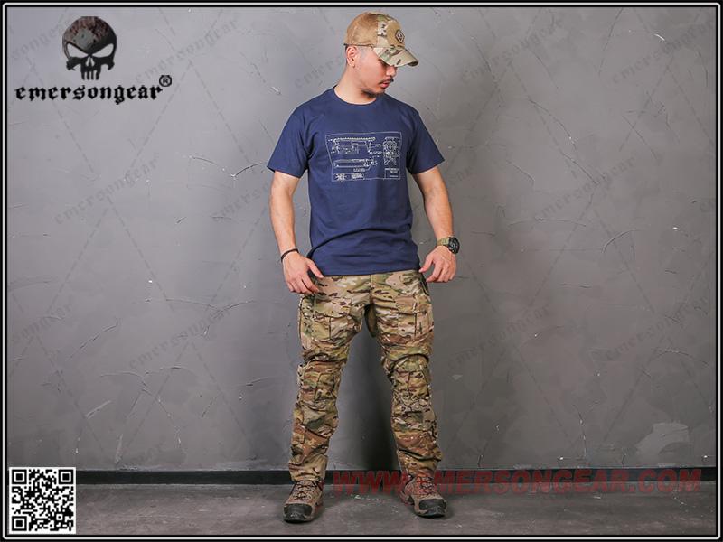 戰術上槍身 貝雷紅 M號~EmersonGear 愛默生 軍事文化T恤 短袖上衣