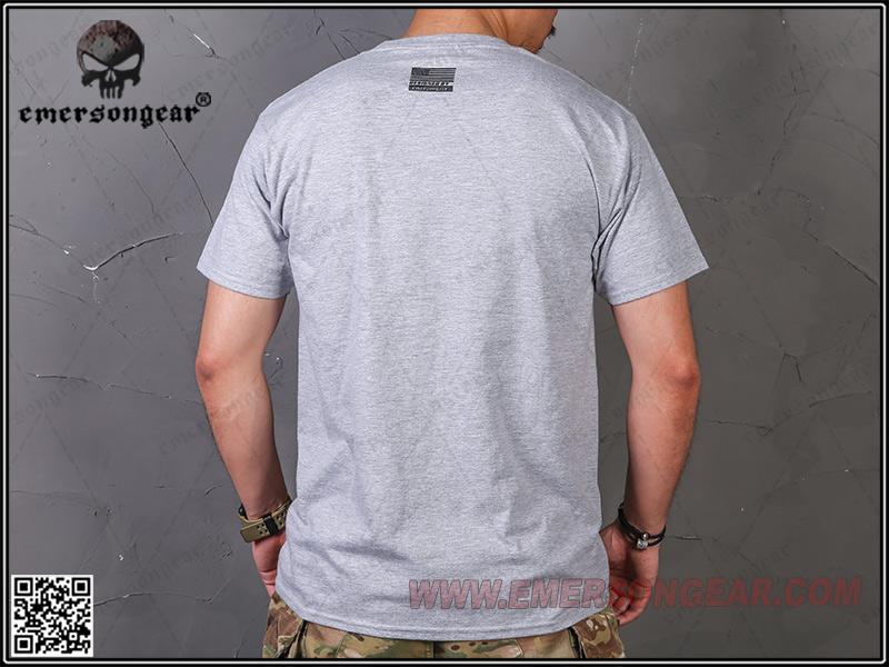 戰術魚骨 硝煙灰 L號~EmersonGear 愛默生 軍事文化T恤 短袖上衣