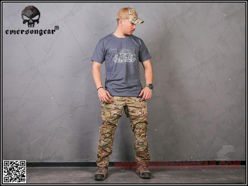 M4A4 Shherman 雪曼坦克戰車 勤務藍 L號~EmersonGear 愛默生 軍事文化T恤 短袖上衣
