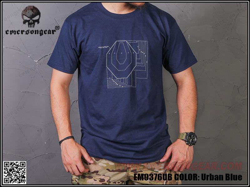 IPSC 靶紙 打靶 勤務藍 L號~EmersonGear 愛默生 軍事文化T恤 短袖上衣