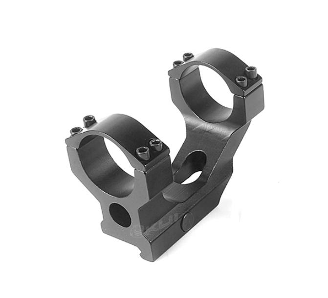 黑色~寬軌連體夾具 狙擊鏡一體式夾具 金屬 鏡環間距55mm 夾具總長85mm 25/30mm兩用