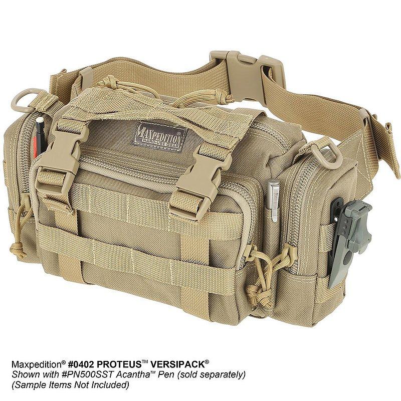 MAXPEDITION TAN 狼棕色 Proteus 變形者機能側背腰包  工具包 斜背包 郵差包 急救包