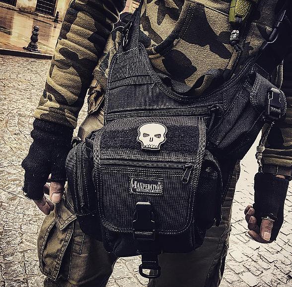 MAXPEDITION 黑色 Fatboy (小)多功能側背鞍袋包 工具包 斜背包 郵差包 急救包