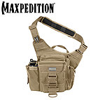 點一下即可放大預覽 -- MAXPEDITION TAN 狼棕色 Jumbo (大)多功能側背鞍袋包 工具包 斜背包 郵差包 急救包