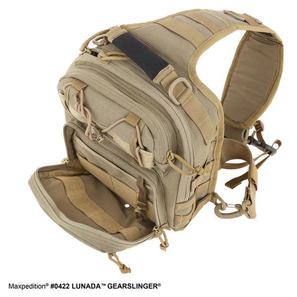 MAXPEDITION  黑色Lunada Gearslinger夜行者胸掛斜背包 工具包 側背包