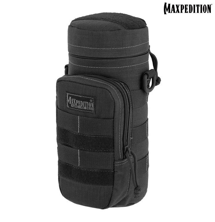 MAXPEDITION   黑色 25x10cm水壺收納包,礦泉水攜行袋,保特瓶裝