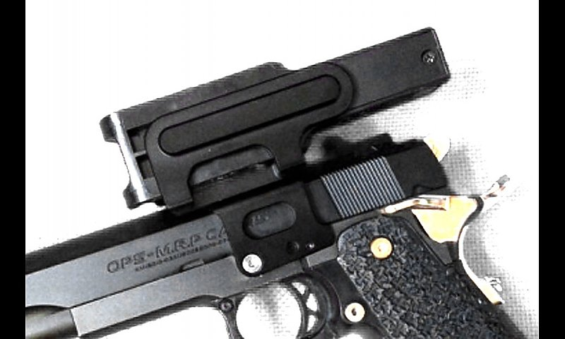ADepot 銀色 90度C MORE用 手槍鏡橋 魚骨 內紅點座 AM/AIP/UAC/CP/IPSC競技射擊套件