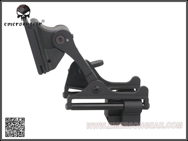黑色~EMERSON 愛默生 上翻式夜視鏡座  望遠鏡 For PVS-14 / PVS-7