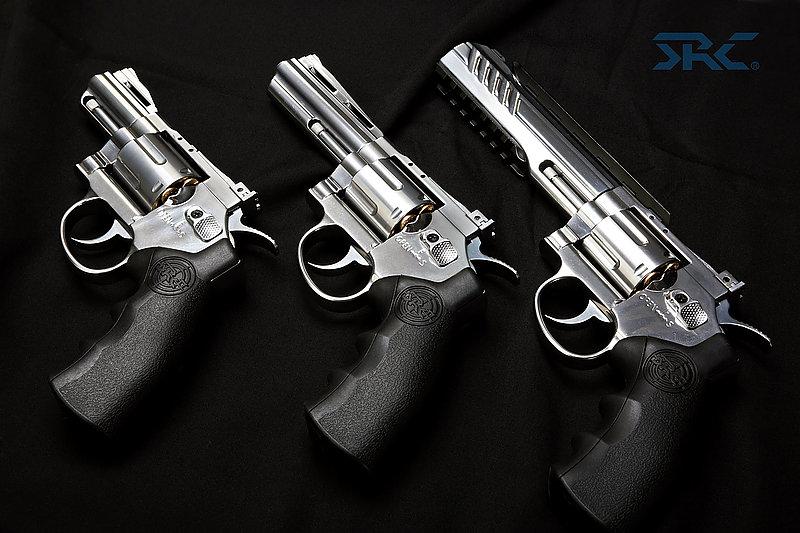 預購送~白金銀6吋~SRC TITAN 泰坦 全金屬 CO2左輪手槍 附戰術魚骨