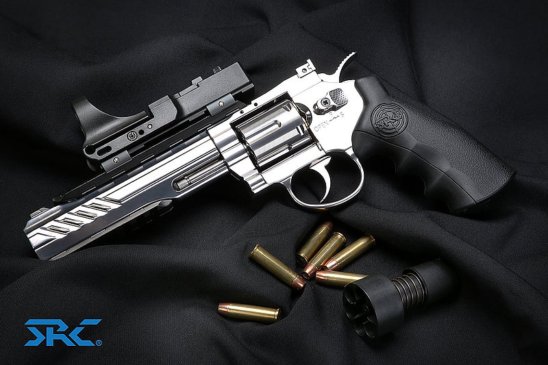 白金銀4吋~SRC TITAN 泰坦 全金屬 CO2左輪手槍