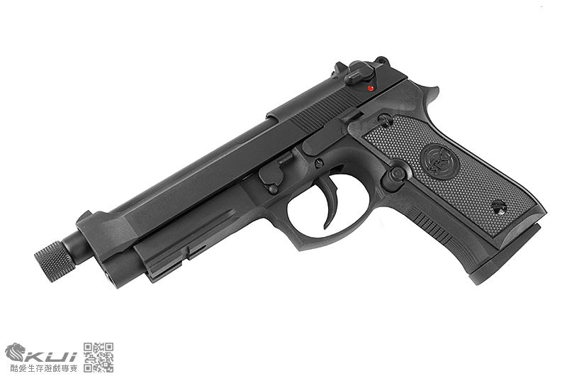 SRC SR92A1 M9A1 加速滅音管 雙動力 全金屬 自動退膛瓦斯槍,手槍,BB槍 M92