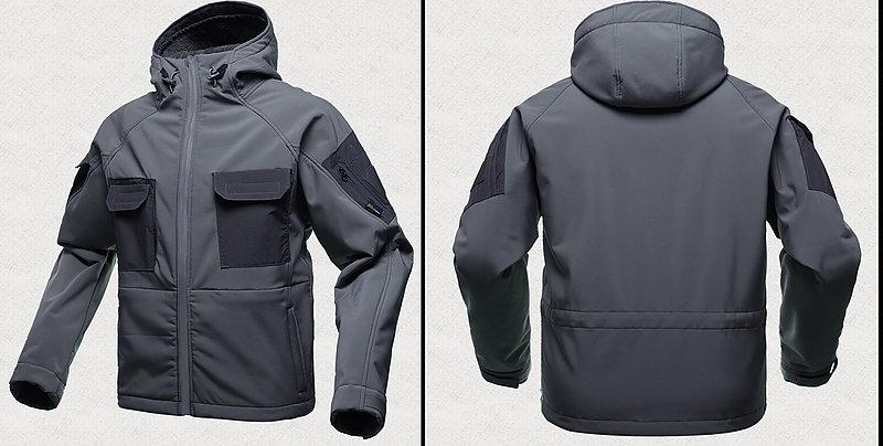 【 燼滅灰-L號】戰術軟殼衝鋒加厚外套,抓絨內裡  防風 防潑水 耐磨 透氣 保暖