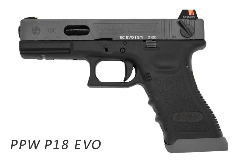 POSEIDON 海神【黑色】 P18 G18 EVO性能版 瓦斯手槍