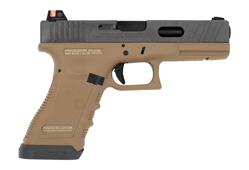 POSEIDON 海神【沙色】 P18 G18 EVO性能版 瓦斯手槍