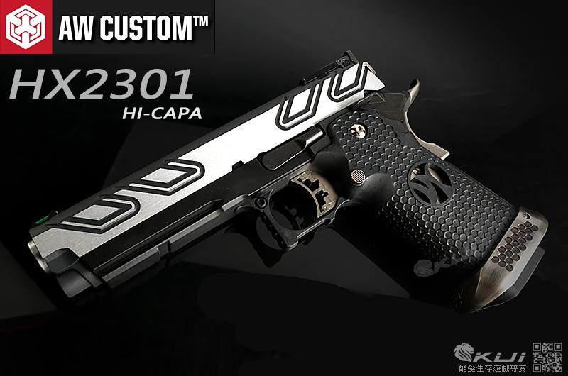 AW CUSTOM【黑銀雙色】 HI-CAPA 5.1 HX2301 全金屬 瓦斯手槍 IPSC