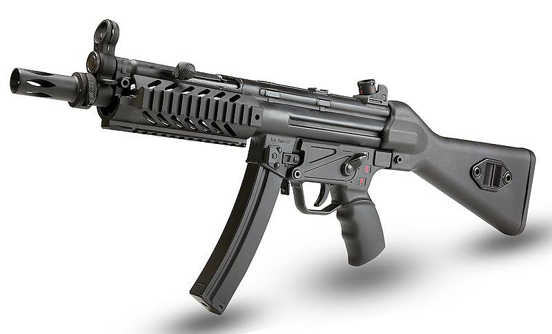 買槍大放送!任選店內價值$2500元好禮! SRC SR5-A2 TAC戰術護木版 MP5 CO2衝鋒槍 後座力 (COB-407TM)