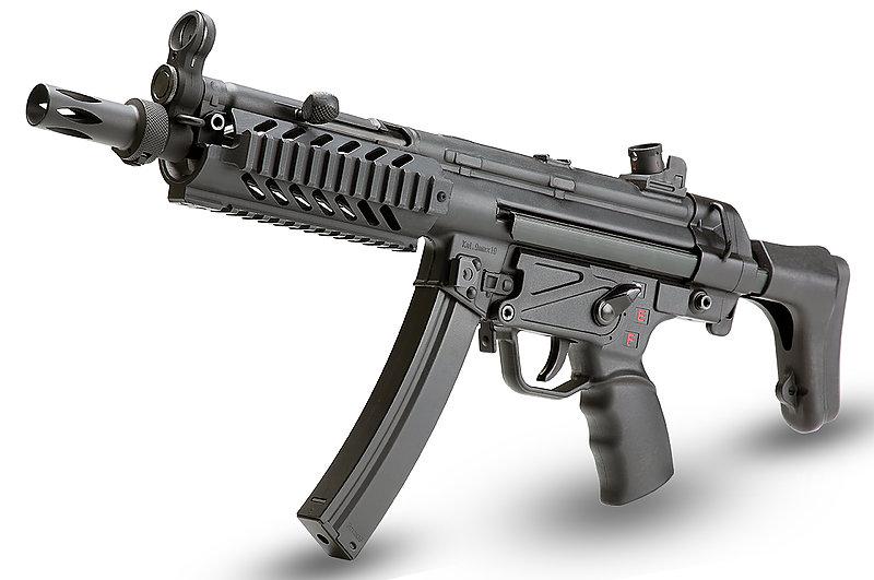 買槍大放送!任選店內價值$2500元好禮! SRC SR5-A3 TAC戰術護木版 伸縮托 MP5 CO2衝鋒槍(COB-410TM)
