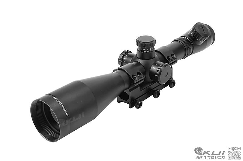 [高寬連體夾具版] M1 3.5-10X50 狙擊鏡,瞄準鏡(5段紅綠光+軍規快調+消光筒)
