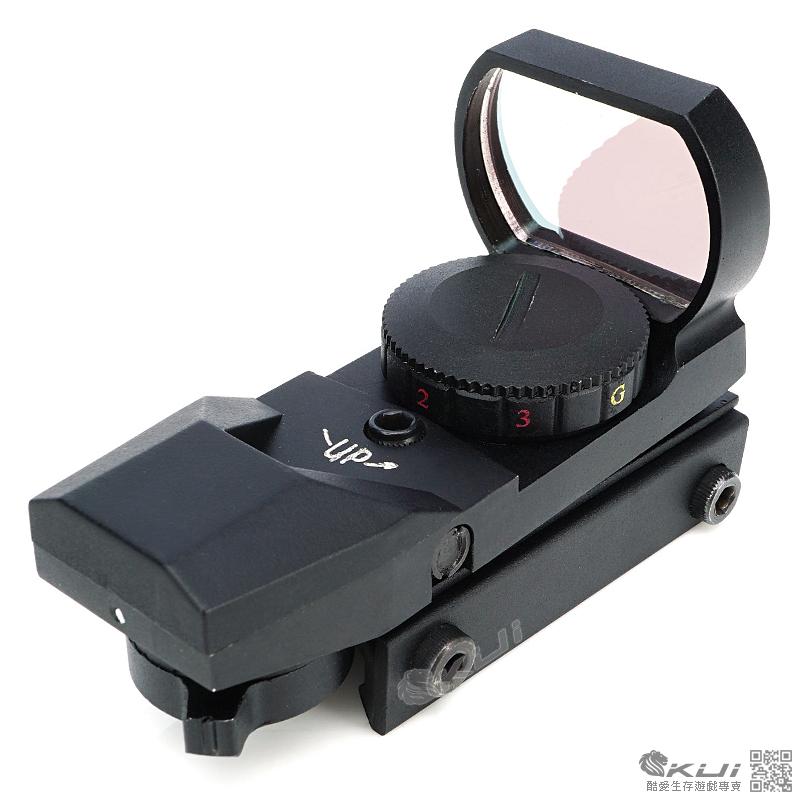 高階~L型快瞄鏡(全金屬+5段紅綠光+四種瞄點+四向可調),內紅點,瞄準鏡