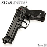 點一下即可放大預覽 -- 刻字版~ KSC/KWA M9  SYSTEM 7 瓦斯槍,手槍,短槍,生存遊戲BB槍