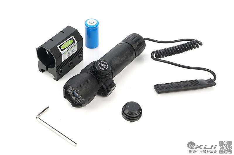 特價!攻擊頭-外調綠雷射 綠外線 金屬 瞄具 雷射專用夾具 配件 手槍 長槍 老鼠尾