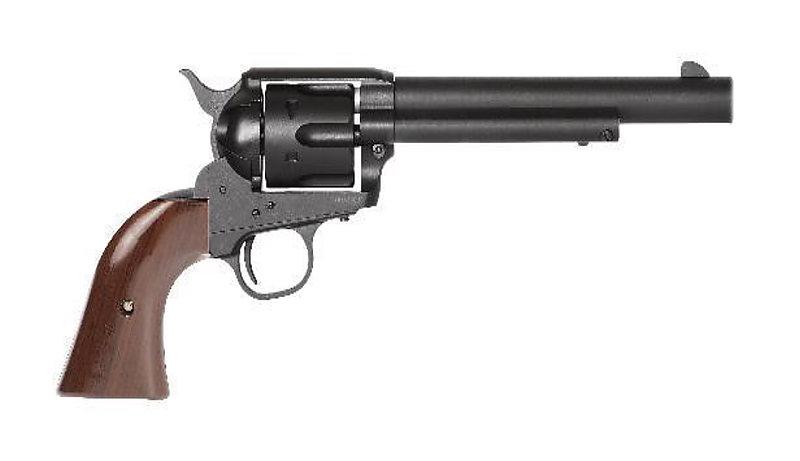 King Arms【黑色-長版】SAA .45 牛仔槍 瓦斯左輪手槍(子彈6顆)