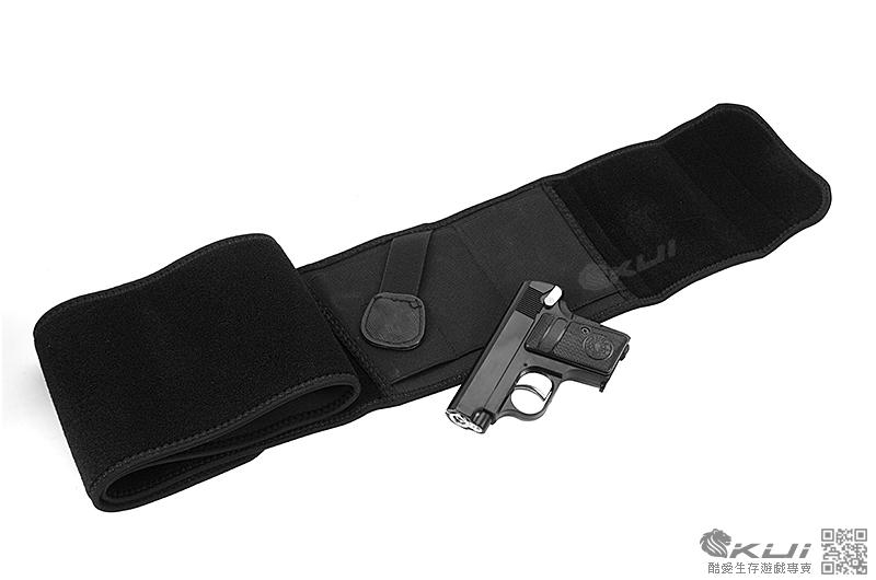 隱藏式 殺手特工 特務腰間槍套 + HFC 掌心雷 柯特 25 瓦斯槍,袖珍手槍