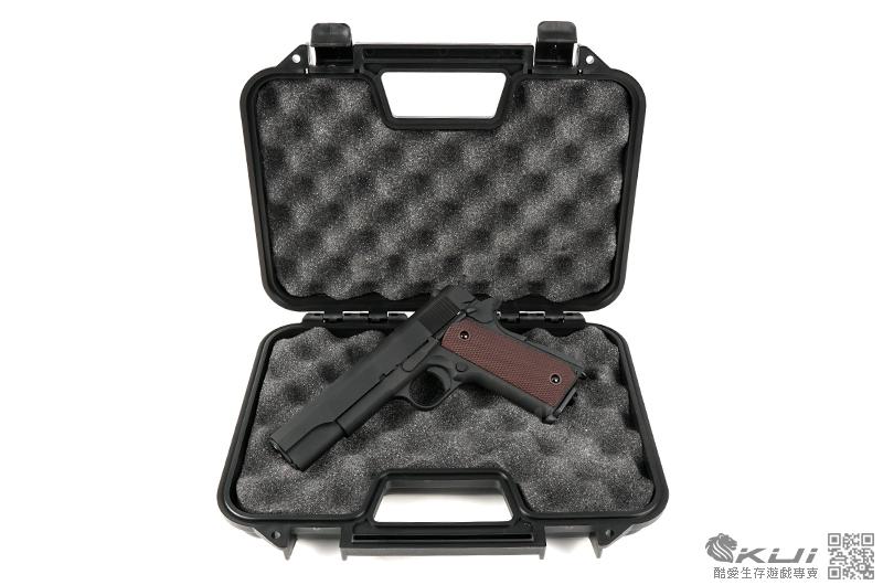 超值組合全配版~SRC SR-1911 M1911 半金屬瓦斯手槍,BB槍 (附槍箱+瓦斯+矽油+BB彈+填彈器)