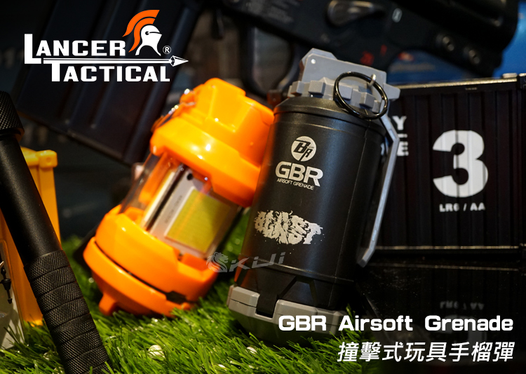 LT~LANCER TACTICAL GBR Airsoft Grenade 撞擊式玩具手榴彈 手雷 130發