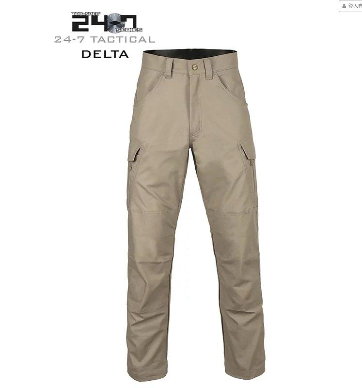 TRU-SPEC【狼棕色,32吋褲長 34腰】 24-7 全天候系列 Delta 三角洲特勤戰術褲,長褲