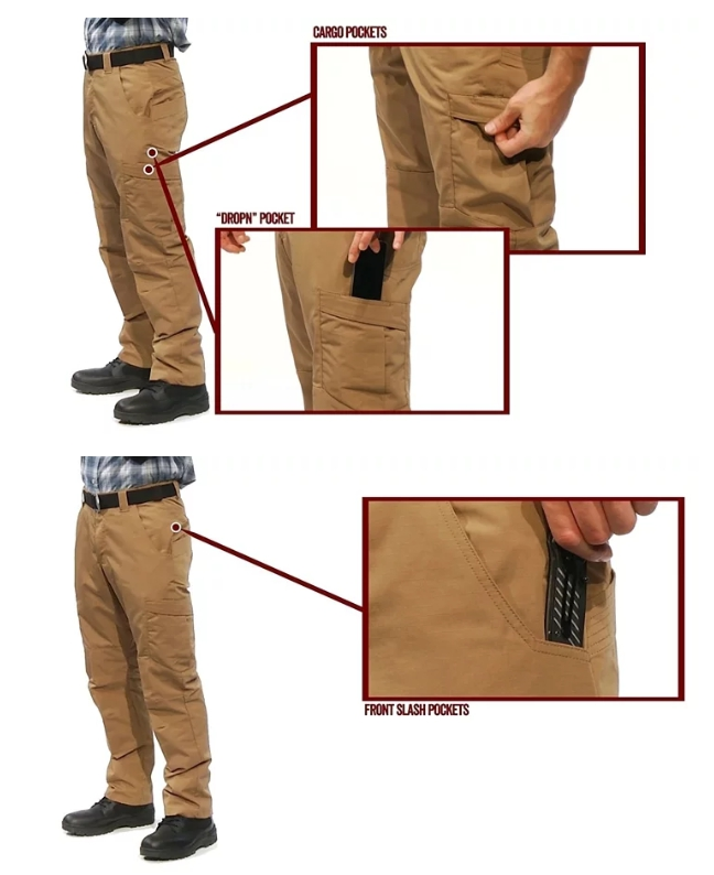 TRU-SPEC【狼棕色,32吋褲長 28腰】 24-7 全天候系列 靜音戰術褲,長褲