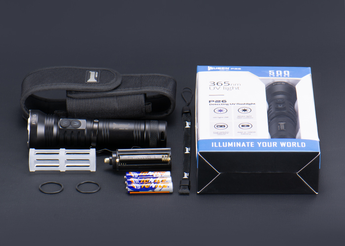 WUBEN P26 雙光源手電筒(白光 / 365nmUV紫光) IP68 防水等級