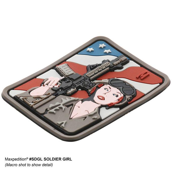 MAXPEDITION【SWAT】SOLDIER GIRL PVC軟膠臂章46x61mm
