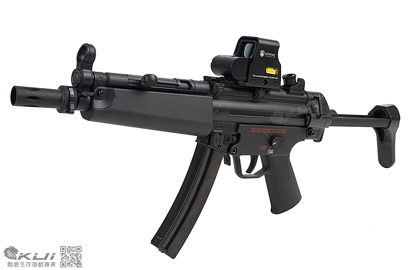 SRC MP5-A5 運動版 伸縮托 AEG電動衝鋒槍,電槍 (靜音彈匣)
