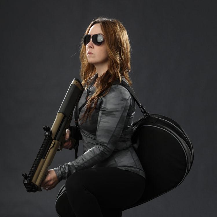 HAZARD4【黑色】Dropshot 球拍風格 80cm隱蔽式槍袋