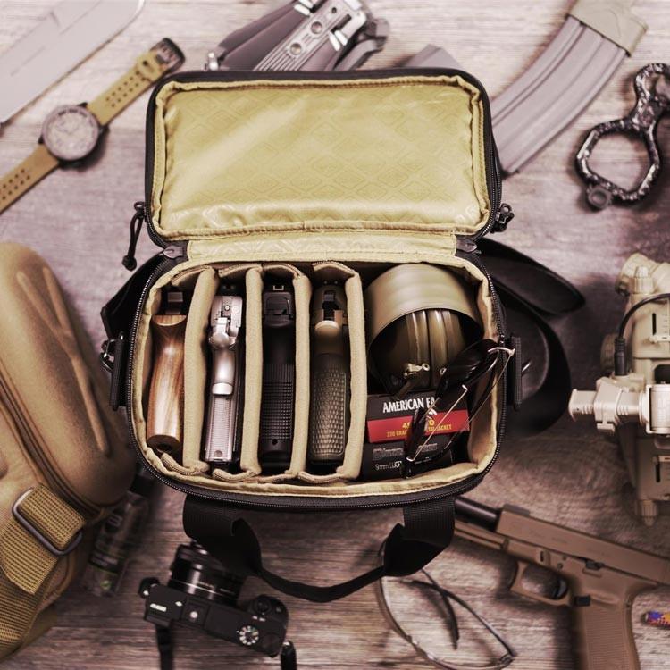 HAZARD4【狼棕色】M.P.C.手槍收納袋 槍袋 相機包